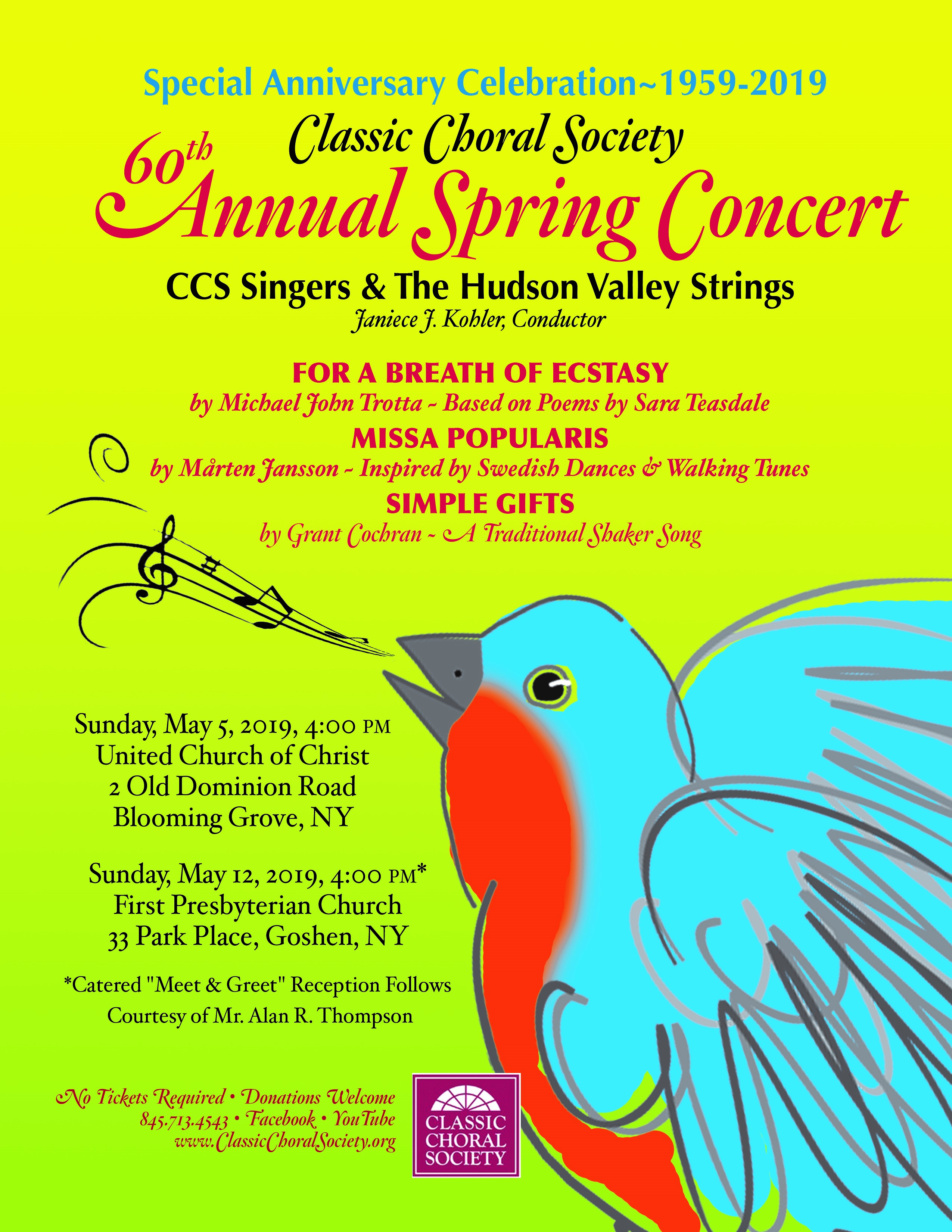 60th Annual Spring Concert - Orange County Arts Council