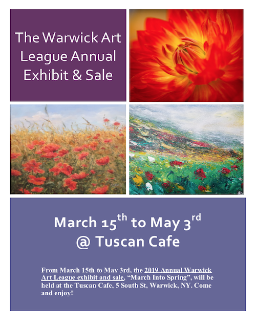 2019 Annual Warwick Art League exhibit